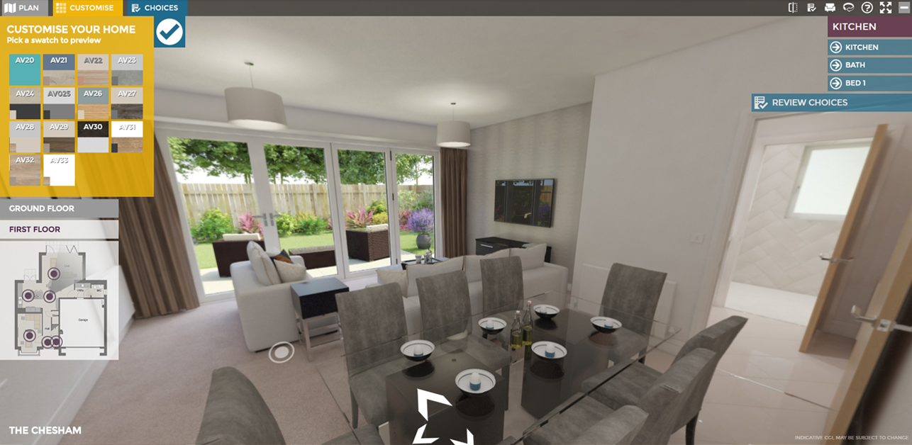 Interactive CGI Virtual Show Home