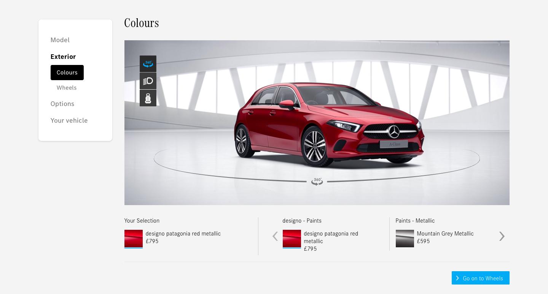 Mercedes configurator