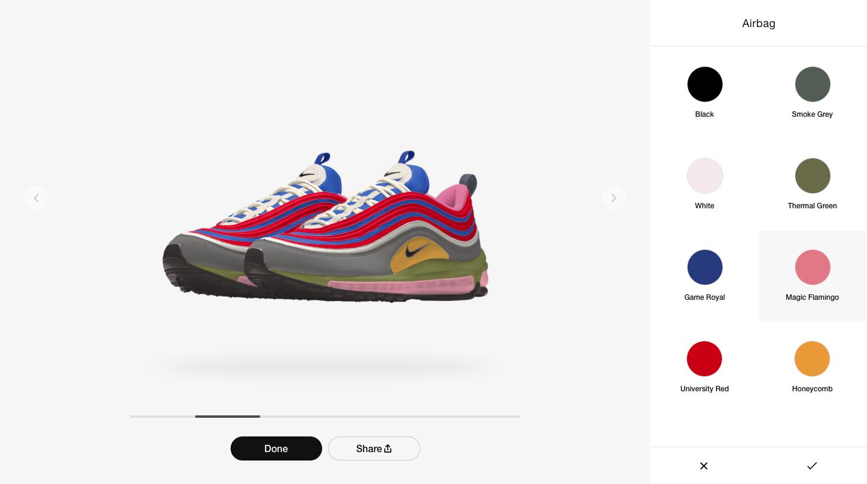 Nike custom choices